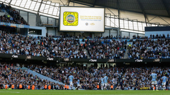 Etihad and Snapchat partner for AR Fly-By at Man City's first home game of the season