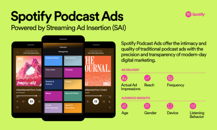 Spotify Launches Streaming Ad Insertion